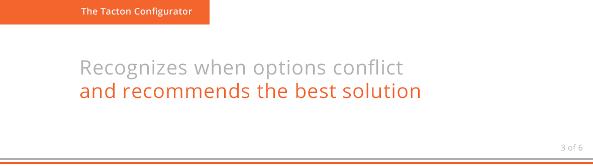 Recognizes when options conflict and recommends the best solution